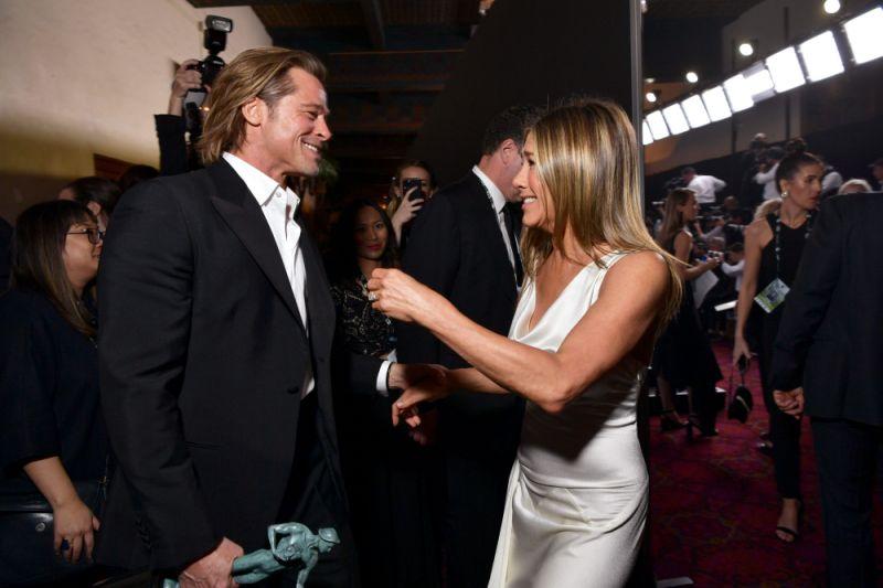 Brad Pitt and Jennifer Aniston_SAG Awards 2020